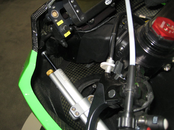 Kawasaki Ninja ZX10R carbon fiber and kevlar innards