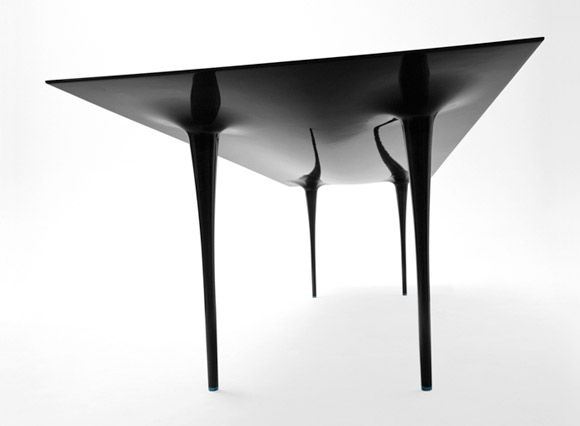 Stealth carbon fiber table