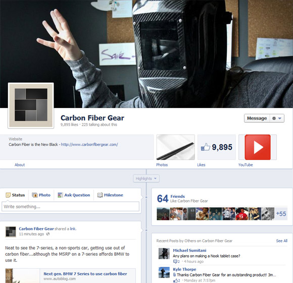Carbon Fiber Gear Facebook Timeline Profile