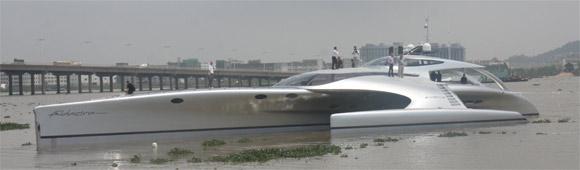 Carbon fiber Adastra yacht