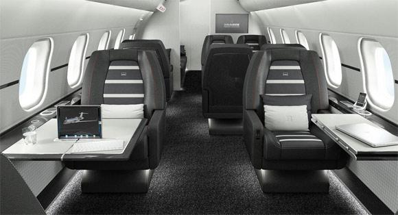 Brabus carbon fiber private jet, interior