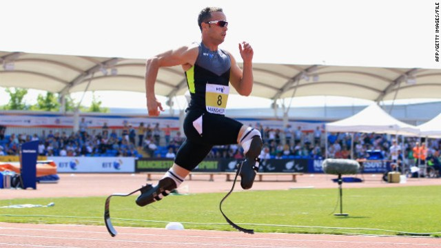 Oscar Pistorius carbon fiber legs