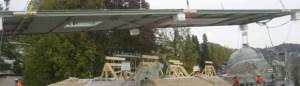 Carbon fiber roof being delivered