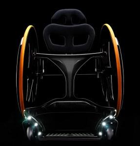 Carbon Black carbon fiber wheelchair