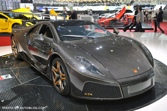 Spania GTA Spano carbon fiber car at Geneva 2013