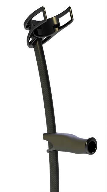 Carbon fiber forearm crutch