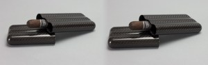 Carbon fiber travel cigar cases