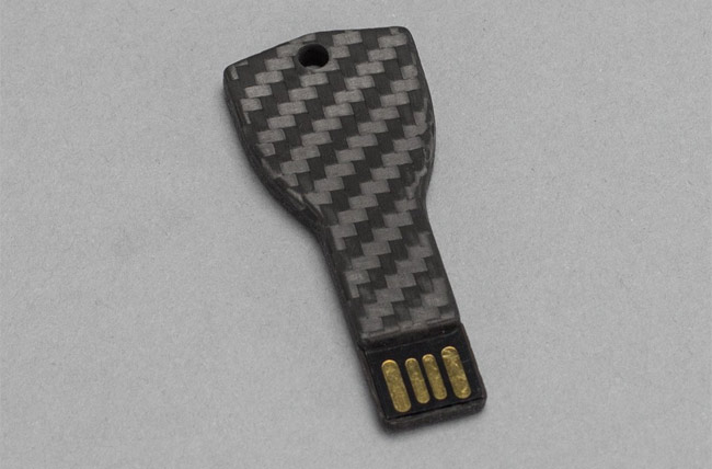 Carbon fiber key USB drive