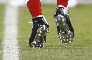 Close-up cleat backview