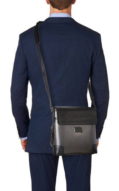 Tumi CFX Sazuka Crossbody Carbon Fiber Bag