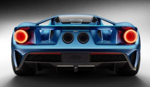 Ford GT Supercar Back Blue