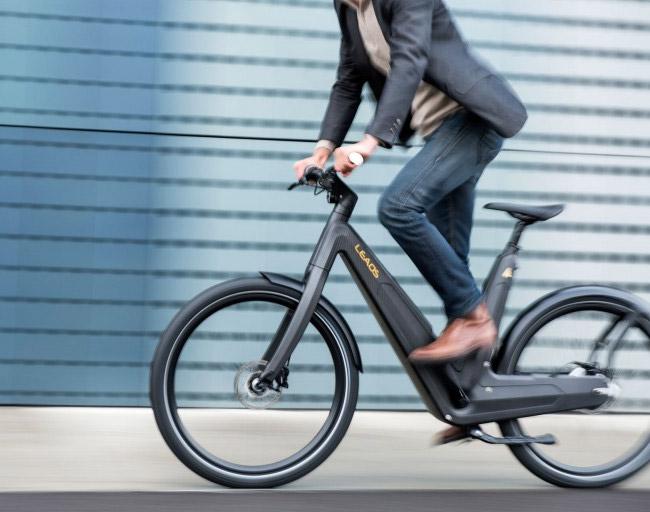 Man Riding E-bike