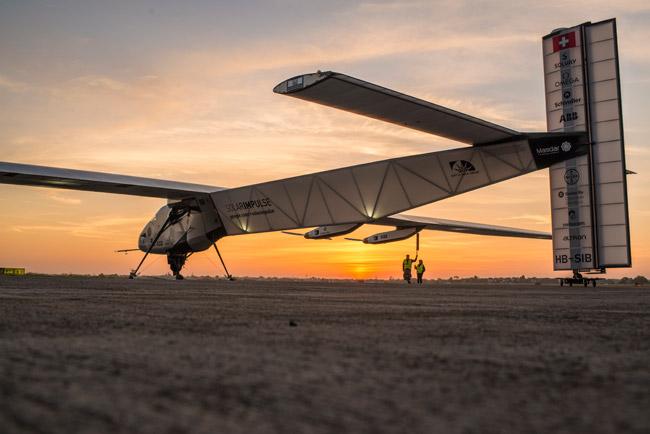 Solar Impulse 2 on runway