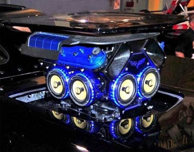 Engine Block Speaker Pod