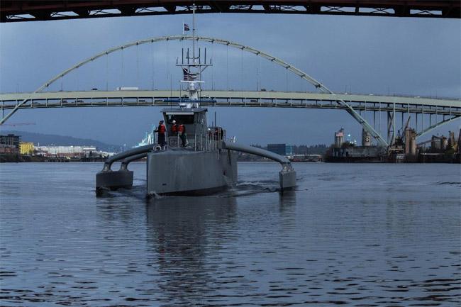Navy unveils unmanned composites-intensive vessel