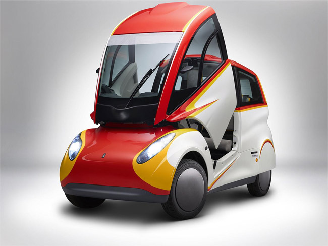 Shell unveils concept car built with recycled carbon fiber