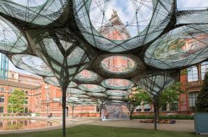 Museum installation features composites structure