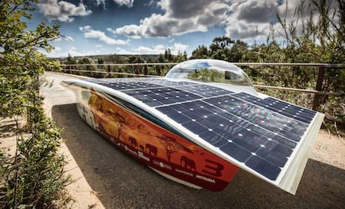 Nuna8 solar-powered composites race car wins South Africa race