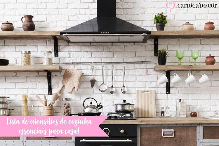 lista de utensílios de cozinha essenciais para casa