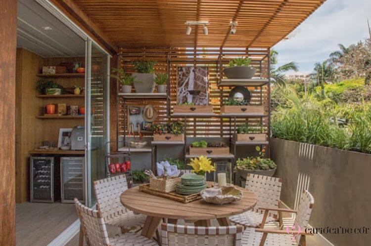 horta vertical para aproveitamento de espaço