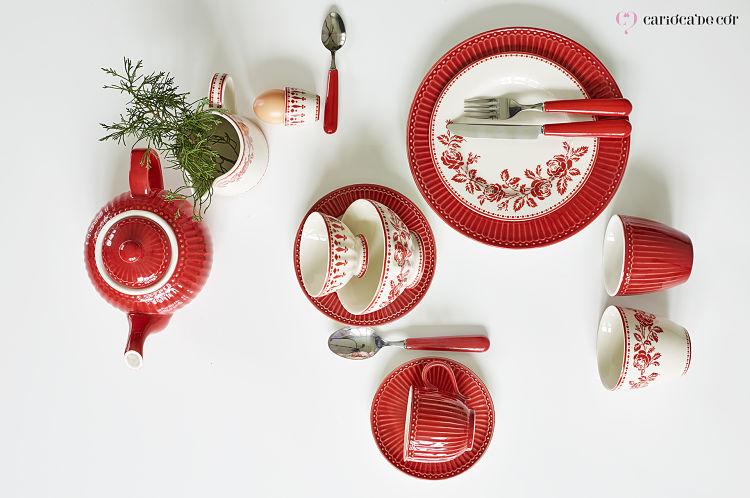 decoracao em vermelho