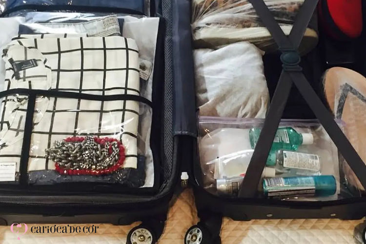 mala pronta para viagem