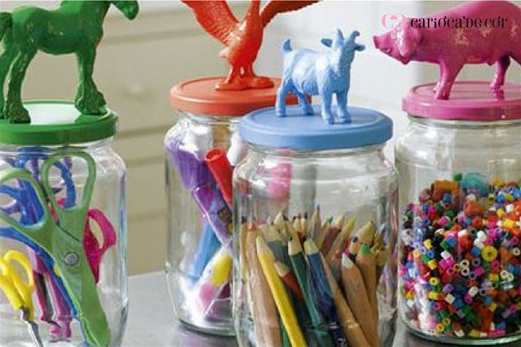 lápis de cores organizados