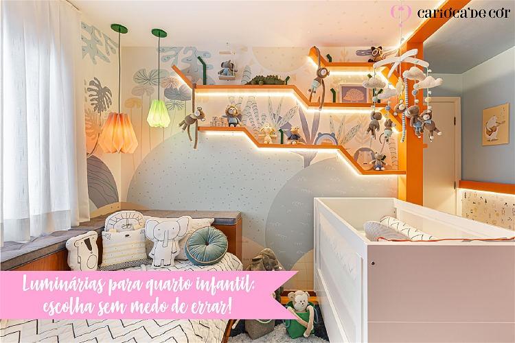 luminarias para o quarto infantil
