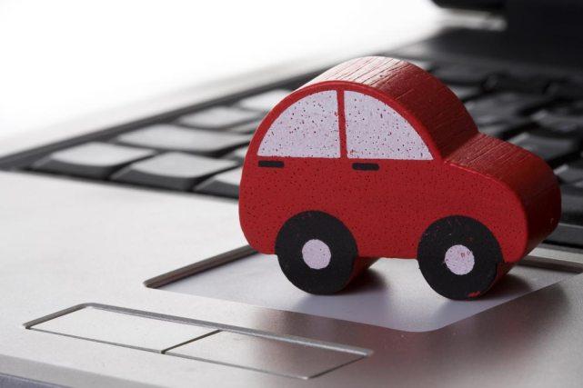 ajuda da internet ao pesquisar seu carro carro sobre teclado