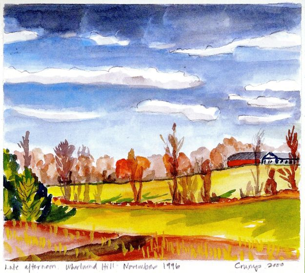 Late Afternoon, Whirlwind Hill, Carol Crump Bryner, watercolor, 1996