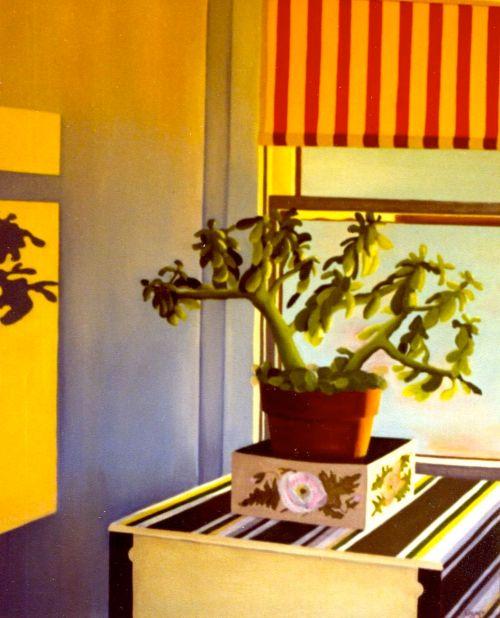 """Hall Window,"" Carol Crump Bryner, oil on canvas, 1978"