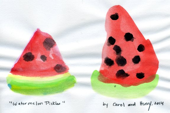 """Watermelon Pickles,"" Carol and Henry, 2014"