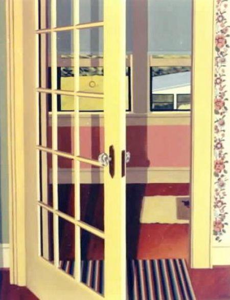 """Door to Grandma Crump's Sleeping Porch,"" Carol Crump Bryner, oil on canvas, 1990"