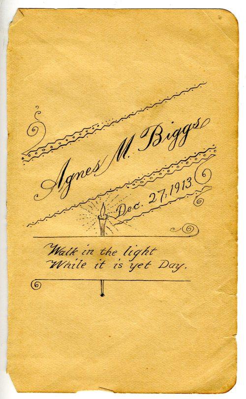 Inscription in Book of Common Prayer