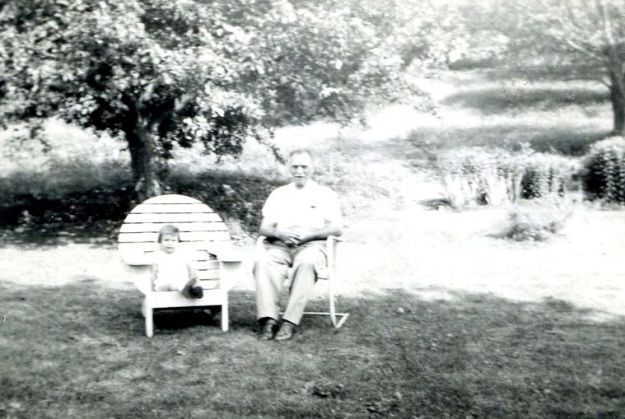 Me and Grandpa Biggs, summer 1947