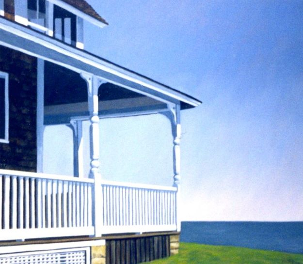 """Corner of the Porch,"" Carol Crump Bryner, oil on canvas"