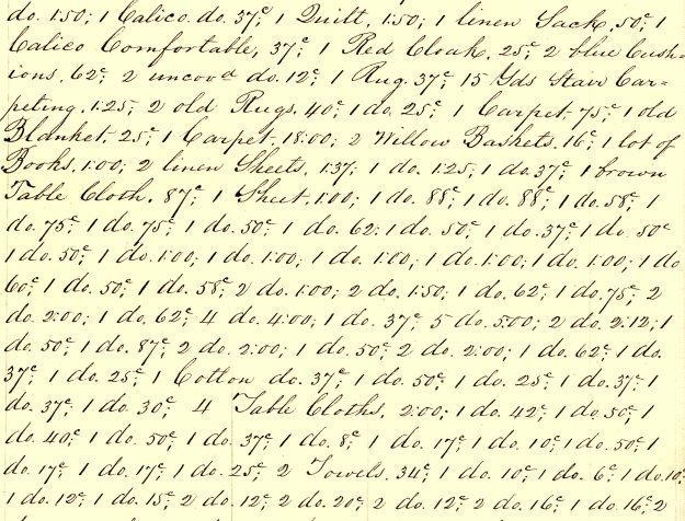 Detail of Inventory of Aaron Hall, Esq.