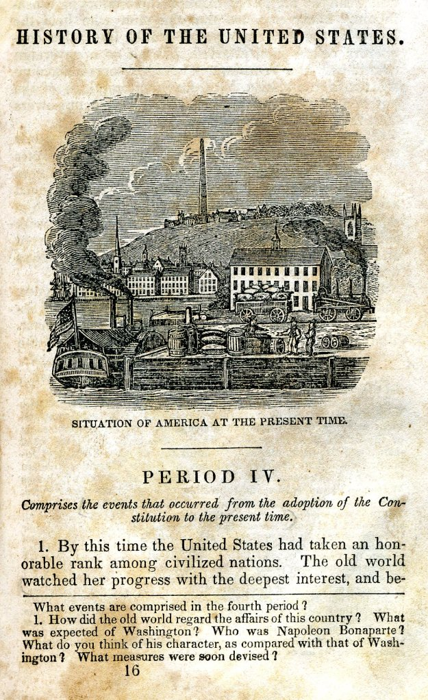 """Page from """"History of the United States"""""""