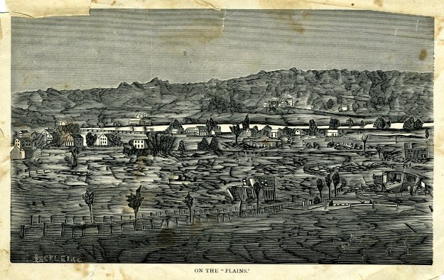 """On the Plains,"" illustration from History of the Wallingford Disaster"""