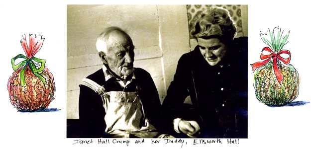 Janet Hall Crump and her Daddy, Ellsworth Hall