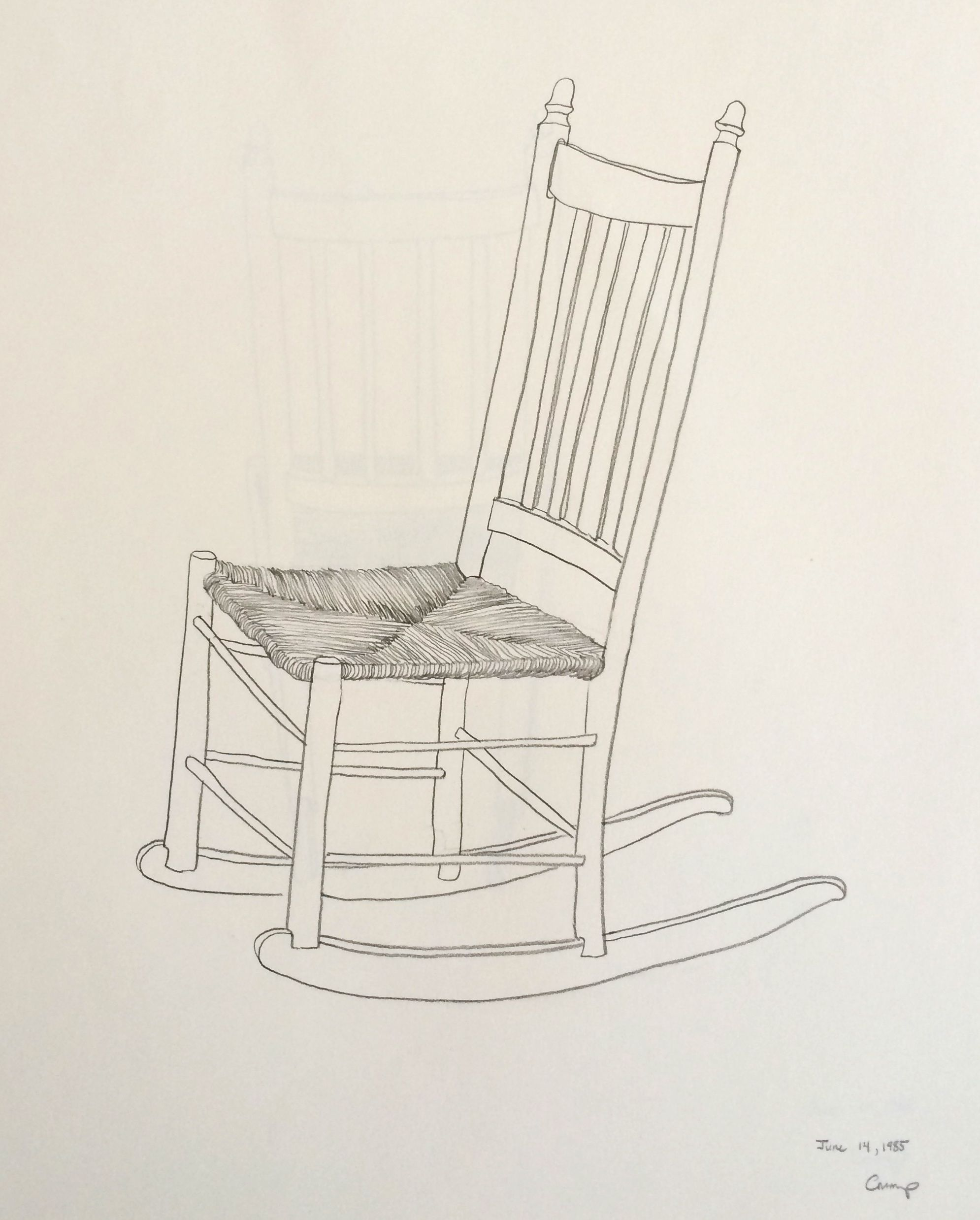 The Low Rocking Chair Carol Crump Bryner Pencil Drawing