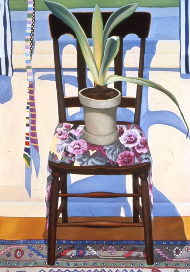 """East Window - May,"" Carol Crump Bryner, oil on linen, 40"" x 32"" 1983"