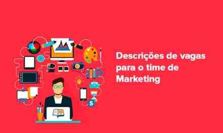 Descrições de vagas para o marketing digital
