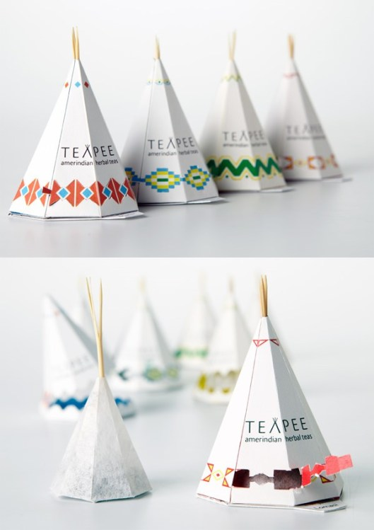 teepee tea packaging
