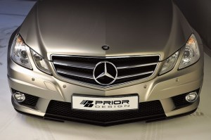 The grill of a Mercedes-Benz E-Class