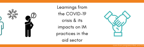 A few learnings from the COVID-19 crisis and its impacts on Information Management practices in the aid sector: improving information through inclusive processes and capacity building