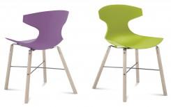 """"""" sedie, una verde e una lilla della serie Echo di Domitalia"""