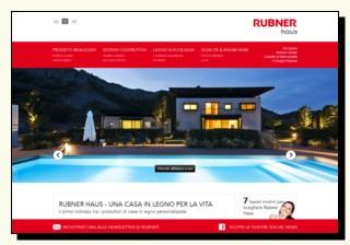 Home del sito della Rubner Haus