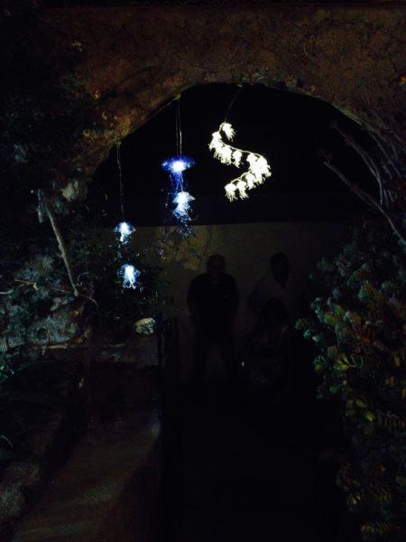 sculture luminose a forma di medusa di Martina Manno