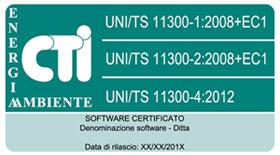 software certificati  per calcolo prestazione energetica